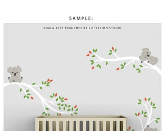 Separate Row of Leaves for the Koala Tree Branches by LittleLion Studio