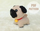 PATTERN: A Little Pug Crochet Amigurumi Doll PDF Crochet Pattern - Instant Download