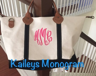 Monogram Travel Bag - Canvas - Travel Bag - Detachable Strap