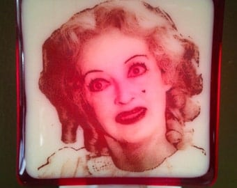 Baby Jane Bette Davis Fused Glass Night Light