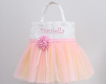 Tutu Bag, Dance bag, Personalized tote, Girls purse, Pink Lemonade, Girl's Personalized, Bag, Large purse, Made to order, Fast shipping