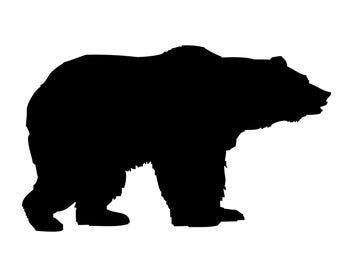 Bear Decal , Grizzly Bear Sticker - Bear Hunting Decal