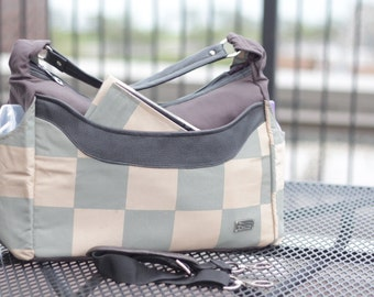 Diaper Bag, Leather Messenger Diaper Bag, Travel Tote Bag, Boy Diaper Bag, Maternity, Crossbody Diaper Bag, Diaper Nappy Bag