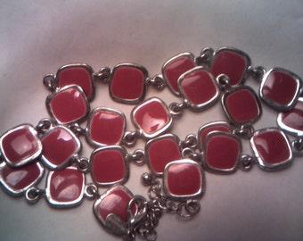 Red Enameled Worthington Necklace