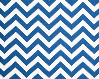 Chevron Print Zig Zag Cobalt White Decorative Indoor Throw Pillow Cover with Hidden Zipper