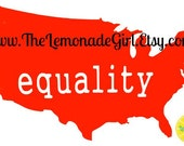 EQUALITY DECAL, Equality Vinyl Decal, 6/26/15, USA Decal, Marriage Equality Car Decal, Computer Decal