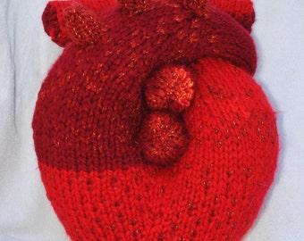 Knit Anatomical Heart
