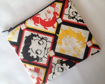 Retro Coin Purse using Betty Boop Fabric. Fully Lined!
