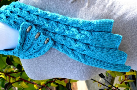 knitting pattern only waterfall cables scarf from