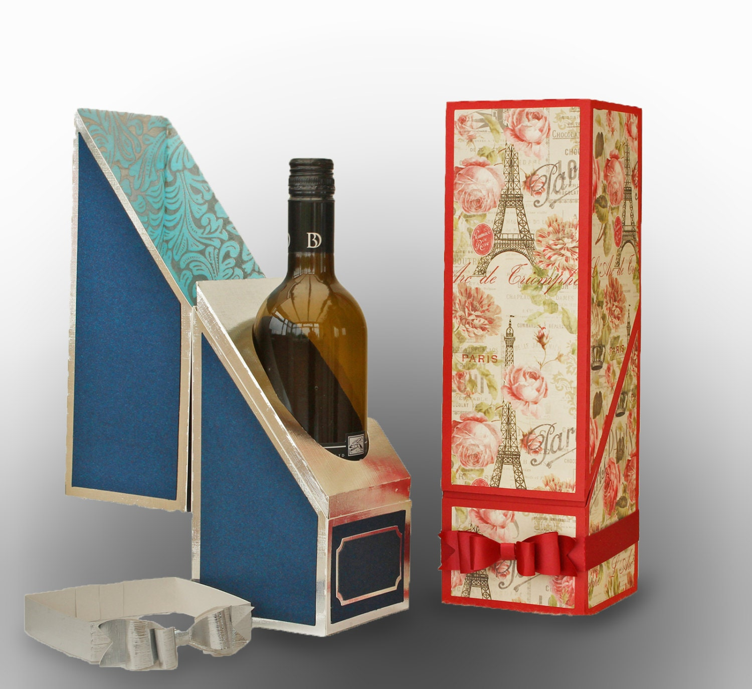 wine bottle Includes 6 - Red kraft cardboard Wine and Liquor gift boxes PACKHOME Wine Gift Boxes( x x ), Bottle Gift Boxes for Liquor and Champagne, Magnetic Closure Collapsible Gift Boxes (6 Boxes/Glossy White).