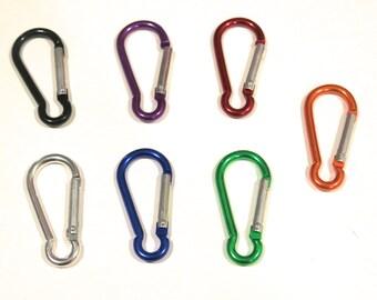 "BULK 30pc ""carabiner"" clip-ons in mixed colors (BC755B)"