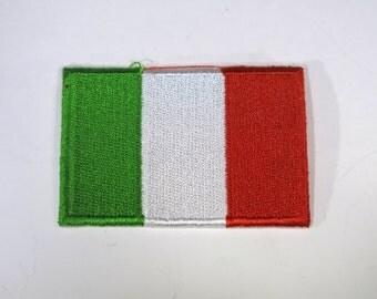 "Iron-on ""Italy flag"", applique, application (P84)"