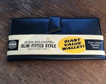 Retro New Siris Goldmine Black Plastic Wallet