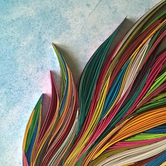 Khaleelrm Hand Made Fish Paper Quilling Art Gift Box Framed