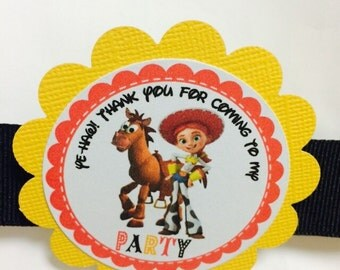 Jessie Toy Story Party Tags, 12 Ready to Ship