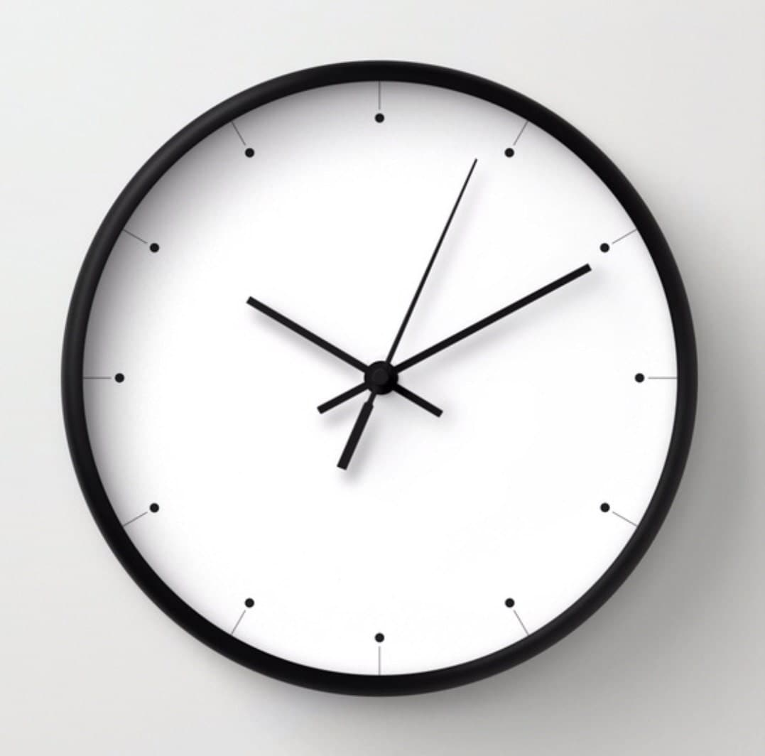 Simple Wall Clock Black And White Clock Minimalist Design