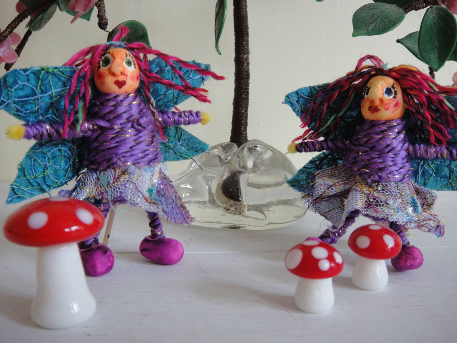 Handmade woodland fairy ornament quirky fairy x 1 for Quirky ornaments uk