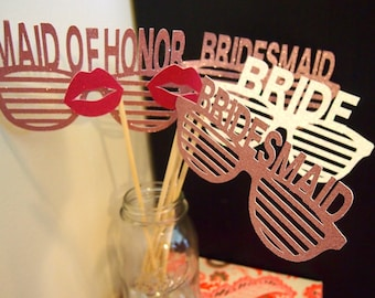 Bridal Party Photo Booth Props