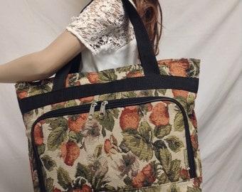 Large Tapestry bag,tote bag, Shoulder Bag, Travel Bag,organizer, Strawberry's