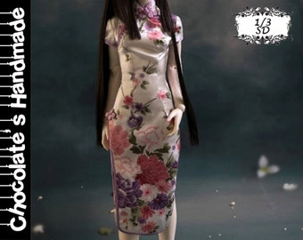 BJD Pattern SD 1/3 Traditional Chinese Cheongsam /qípáo /mandarin gown E-Pattern[with English instruction]