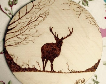 Countryside pyrography animals - each one unique to you