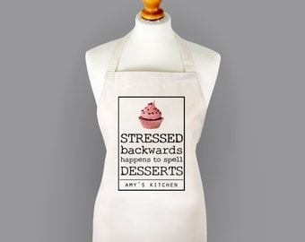 Personalised Dessert Stress Apron