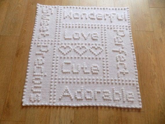 Crochet Unicorn Blanket : Precious OnePiece Baby Blanket Crochet PATTERN by Peach.Unicorn