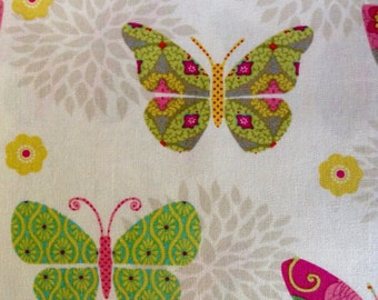 SALE - One Half Yard of Fabric Material - Bohemian Garden Butterflies