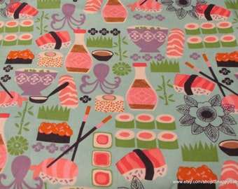 Flannel Fabric - Sushi - 1 yard - 100% Cotton Flannel