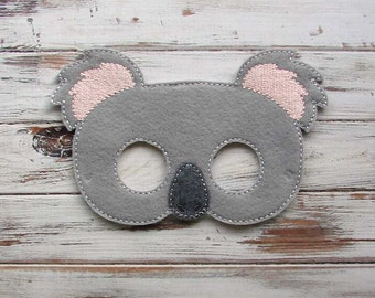 Koala Bear Mask, Australian Bear, Animal Mask, Pretend Play, Dress Up, Halloween, Costume