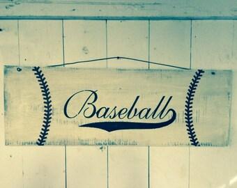 Large baseball personalized sign