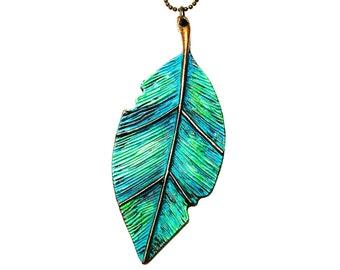 Leaf Pendant,Leaf Neacklace,Leaf Jewelry, Nature Inspired Jewelry,Nature Jewelry,Nature Necklace,Woodland Jewelry,Layered Necklace,Leaf