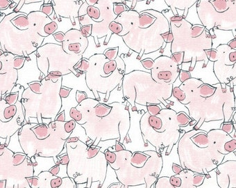 Baby Pigs 100% Cotton Quilting Fabric Fat Quarter