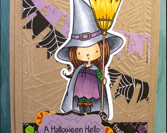 Witch Halloween Card