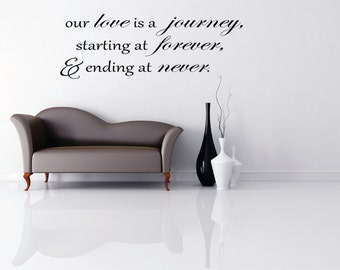 Our Love is a Journey Quote Vinyl Wall Art