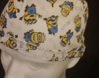 Minions Bello! Despicable Me Tie Back Surgical Scrub Hat