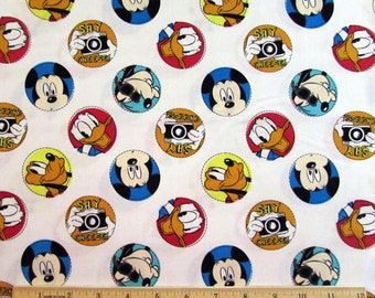 Disney Mickey Say Cheese Fabric Character Badge From Springs Creative