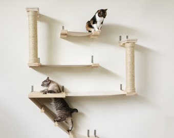 unconventional cat furniture by catastrophicreations on etsy. Black Bedroom Furniture Sets. Home Design Ideas