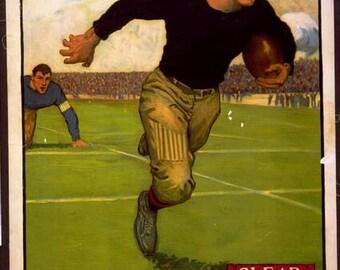"""11 X 14""""  canvas art print~    Clear, Football - Vintage Sports Athletics Poster, 1883"""