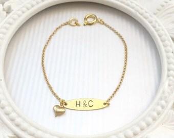 Handstamped INITIAL Bracelet