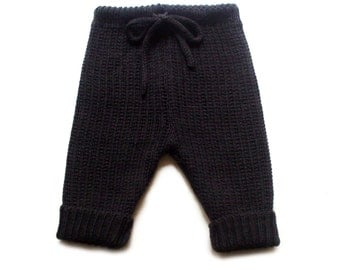Babies/Children's virgin wool knee-length pants/breeches/capri pants/trousers/nappy cover