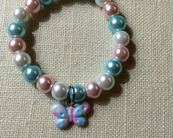 Pregnancy & Infant Loss Awareness Clay Butterfly Bracelet