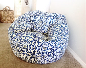 Bean Bag Cover ON SALE Cobalt Blue Bohemian Adults Kids