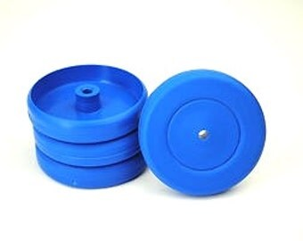 Proops 4 x 25mm dia 4mm Bore Blue Wheels. (S7338) Free UK Postage.