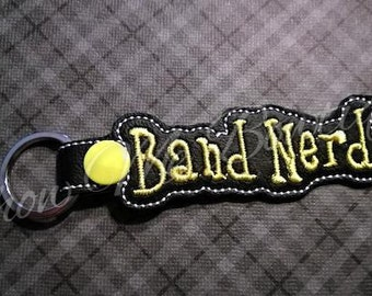 Band Nerd Key Fob/Zipper Pull design Instant Download
