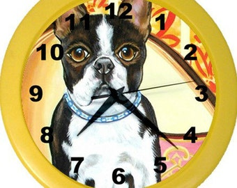 Boston Terrier Wall Clock!