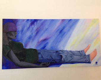 """Original """"Recovery Day"""" Painting - 48"""" x 24"""""""
