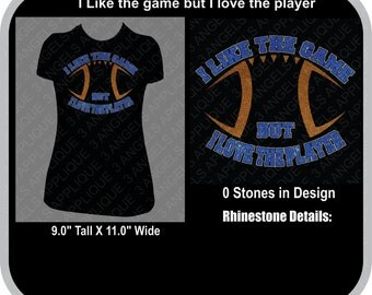 I Like The Game But I Love The Player SVG Cutter Design INSTANT DOWNLOAD