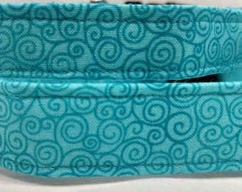Turquoise Swirl Dog Collar