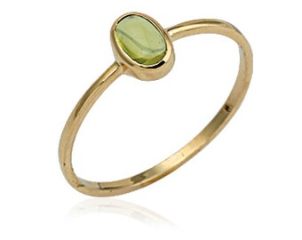 Peridot 14k Solid Gold Ring Natural Gemstone Ring Engagement Ring August Birthstone Ring Peace, Good Fortune and Happiness
